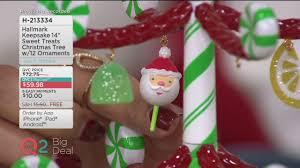 hallmark keepsake 14 sweet treats tree w 12 ornaments