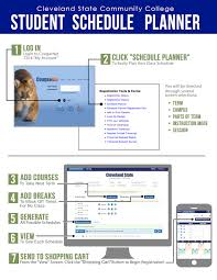 student schedule planner cleveland state community college