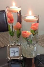 Lighted Centerpiece Ideas by Set Of 3 Beautiful Rose Gold Glitter Coated Glass Cylinder Vases