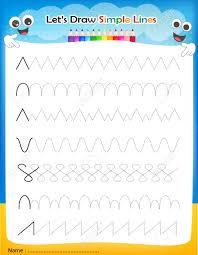 let u0027s u0027 draw simple lines printable worksheet for preschool