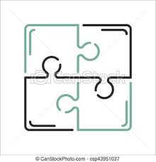 vectors of puzzle blank template or cutting guidelines vector