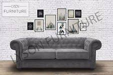 Fabric Chesterfield Sofa Luxurious Sofas EBay - Fabric chesterfield sofas
