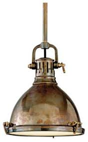 Antique Brass Pendant Light Hudson Valley Pelham Solid Brass Pendant Traditional Pendant