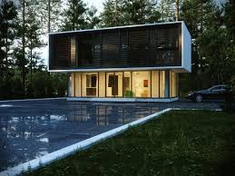 Modern Design House Unusual Glass Modern House In Forest Design With Elegant Terrace