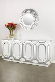 Mirrored Sideboards And Buffets by Vs248 Zoe Mirrored Sideboard Mirrored Sideboard And Wood Glass