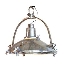 Nautical Ceiling Lights Cabinet Designs Large Retro Pendant Light In Raw Nickel Finish