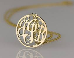 Gold Plated Monogram Necklace 96 Best Monogram Necklace Images On Pinterest Monograms