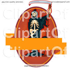 picture of a halloween skeleton clipart of a halloween skeleton grim reaper label or logo