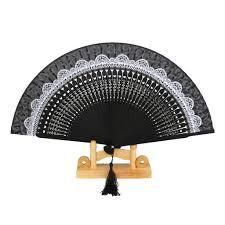 japanese folding fan silk hollow rib flower fan japanese folding fan pocket fan