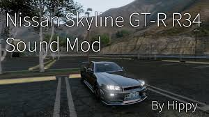 nissan r34 engine nissan skyline gt r r34 rb26dett engine sound gta5 mods com