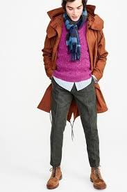 how to wear a purple sweater with grey pants men u0027s fashion