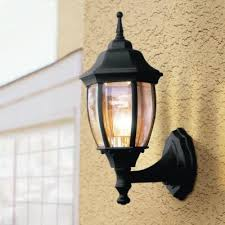 home depot dusk to dawn lights hton bay 1 light black dusk to dawn outdoor wall lantern kerb