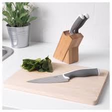 järpar knife block with 3 knives ikea