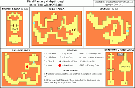 Giant Map Final Fantasy Iv Inside The Babil Giant Map For Playstation By
