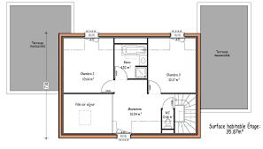 plan maison etage 3 chambres avant projets de construction de maison en loire atlantique