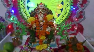 Home Ganpati Decoration Ganesh Festival Home Decoration Mumbai Youtube
