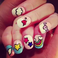 unicorn nails fake nails japanese nail art kawaii
