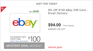 mastercard e gift card ebay deals 6 ebay gift code ways to save money when shopping