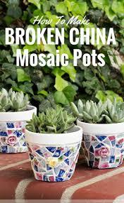pot en fonte mosaic pots trio how to make broken china mosaics