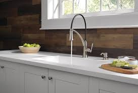 cleaning kitchen faucet foundry kitchen collection featuring shieldspray delta faucet