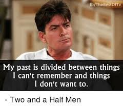 Meme With Two Pictures - fbthe bestof tv my past is divided between things i can t remember