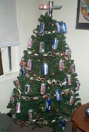 tree with can ornaments humorous images