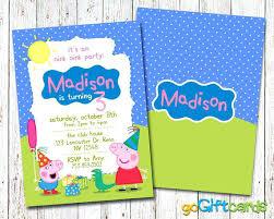 peppa pig birthday supplies luxury peppa pig birthday invitations for pig invitation pig