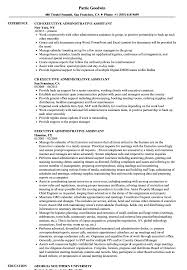 executive administrative assistant resume executive administrative assistant resume sles velvet