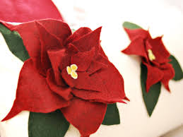 how to sew a poinsettia felt applique pillow hgtv