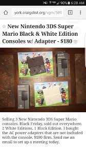 amazon scalpers selling new nintnedo 3ds black friday v video games thread 358764760