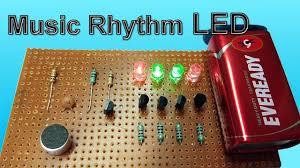 rhythm led flash light using microphone leds vu