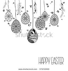 decorative card hanging easter stock vector 573232690