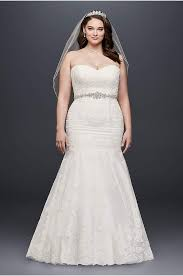 plus size fit and flare wedding dress white by vera wang wedding dresses gowns david s bridal