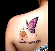 beautiful small butterfly photo on bum design idea for