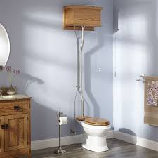 golden oak high tank pull chain water closet with elongated