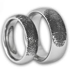 his and rings set his and matching bands tungsten fingerprint rings by ring