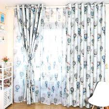 Room Darkening Curtains For Nursery Privacy Room Darkening Air Balloon Pattern Nursery Curtains