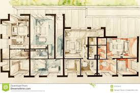 Sketch Floor Plan 3d Sketch Of Home Design Stock Illustration Image 57372414