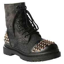 womens size 12 black combat boots s rock studded combat boots target