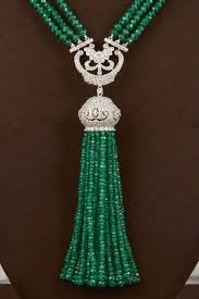 emerald green fashion necklace images Unique green emerald and diamond tassel necklace for sale at 1stdibs jpg