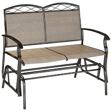 Patio Glider Bench Corliving Patio Double Glider Speckled Brown Outdoor Chairs
