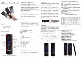 t3 return guide t3 2 4ghz and ir air mouse remote control
