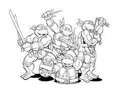 coloring ninja turtles kids fun fun boys