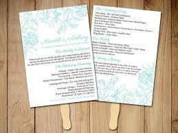 wedding program paddle fan template best 25 diy wedding fans ideas on