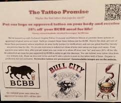 try the tattoo discount picture of bull city burger and brewery