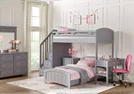 cottage colors gray twin full step loft with desk bunk loft beds