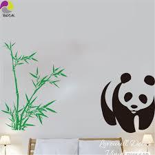 stickers panda chambre bébé bande dessinée panda bambou wall sticker salon chambre mignon panda