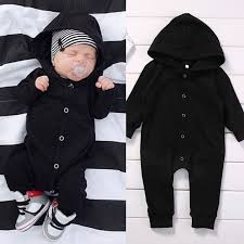 black jumpsuit sleeve toddler infant newborn baby boy clothing romper sleeve black