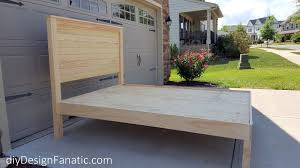 diy design fanatic how to make a farmhouse bed
