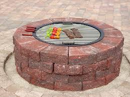 Fire Pit Grille by Insider Brick Fire Pit Grill Garden Landscape